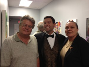 Bob Podurgiel, Brian Edward, and recent 'Burgh Vivant feature Marlene Smith-Pendleton